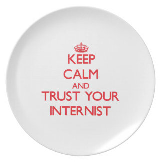 Keep Calm and Trust Your Internist Dinner Plates