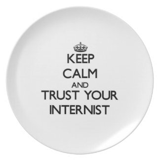 Keep Calm and Trust Your Internist Party Plates