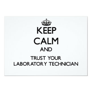 Keep Calm and Trust Your Laboratory Technician Card