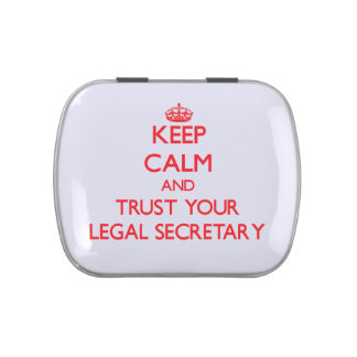 Keep Calm and Trust Your Legal Secretary Candy Tins