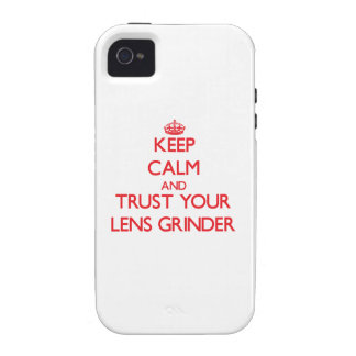 Keep Calm and trust your Lens Grinder iPhone 4/4S Cases