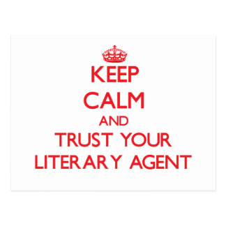 Keep Calm and trust your Literary Agent Postcard