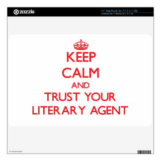 Keep Calm and trust your Literary Agent Skin For The MacBook Air