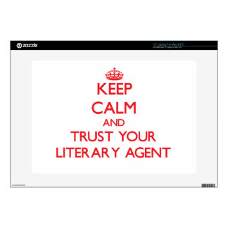 Keep Calm and trust your Literary Agent Laptop Decal