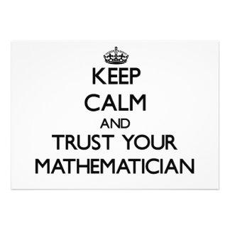 Keep Calm and Trust Your Maamatician Custom Announcements