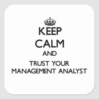 Keep Calm and Trust Your Management Analyst Square Sticker