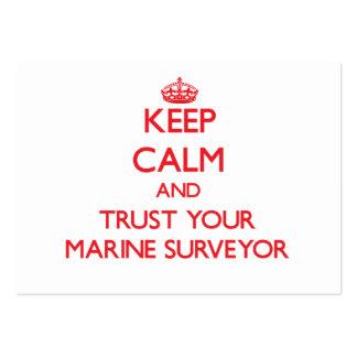 Keep Calm and Trust Your Marine Surveyor Business Card Template