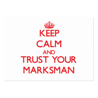 Keep Calm and Trust Your Marksman Business Card Templates