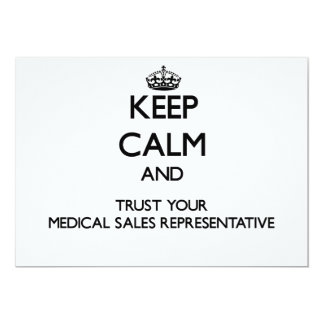 Keep Calm and Trust Your Medical Sales Representat Personalized Invitations