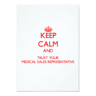 Keep Calm and trust your Medical Sales Representat Custom Announcements