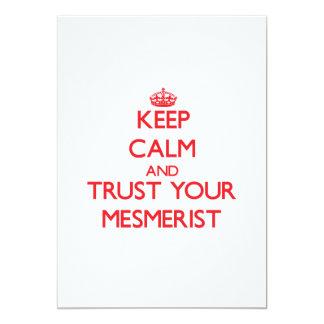 "Keep Calm and trust your Mesmerist 5"" X 7"" Invitation Card"