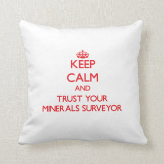 Keep Calm and Trust Your Minerals Surveyor Throw Pillow