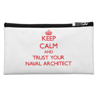 Keep Calm and trust your Naval Architect Makeup Bags