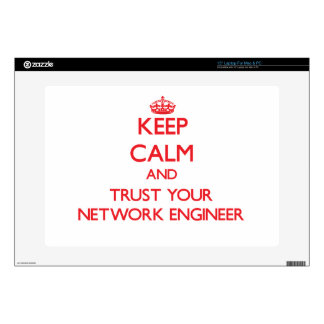 Keep Calm and trust your Network Engineer Laptop Skin