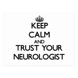 Keep Calm and Trust Your Neurologist Postcards