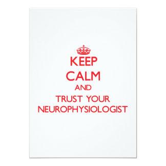 Keep Calm and trust your Neurophysiologist Custom Announcement