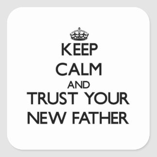 Keep Calm and Trust  your New Father Stickers
