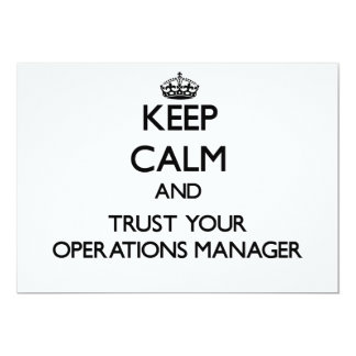 Keep Calm and Trust Your Operations Manager Custom Announcements