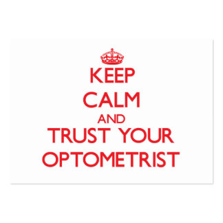 Keep Calm and Trust Your Optometrist Large Business Cards (Pack Of 100)