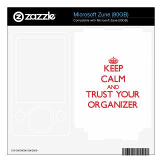 Keep Calm and Trust Your Organizer Zune Skin