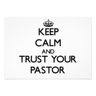 Keep Calm and Trust Your Pastor Card