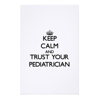 Keep Calm and Trust Your Pediatrician Custom Stationery
