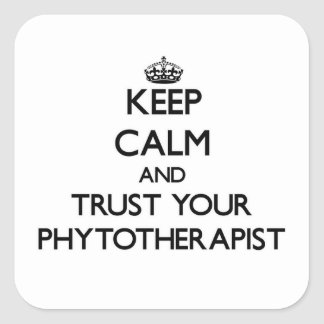 Keep Calm and Trust Your Phytoarapist Square Stickers