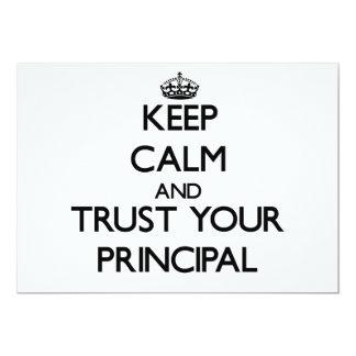 Keep Calm and Trust Your Principal Custom Invites