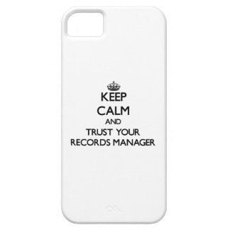 Keep Calm and Trust Your Records Manager iPhone 5 Case