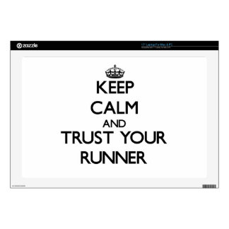 """Keep Calm and Trust Your Runner 17"""" Laptop Decal"""