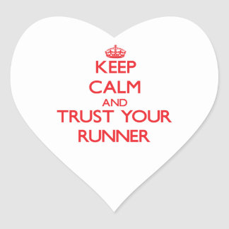 Keep Calm and Trust Your Runner Sticker