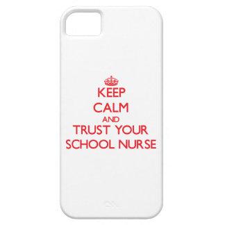 Keep Calm and trust your School Nurse iPhone 5/5S Case