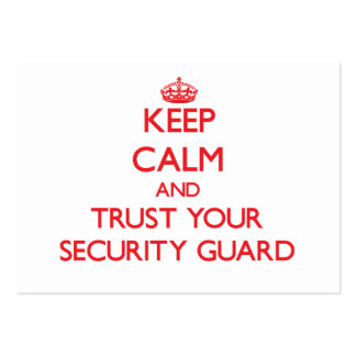 Keep Calm and Trust Your Security Guard Business Card Template