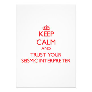 Keep Calm and trust your Seismic Interpreter Cards