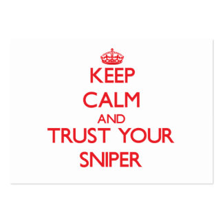 Keep Calm and Trust Your Sniper Business Card Templates