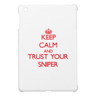 Keep Calm and trust your Sniper iPad Mini Covers