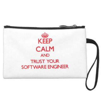 Keep Calm and trust your Software Engineer Wristlet Purses