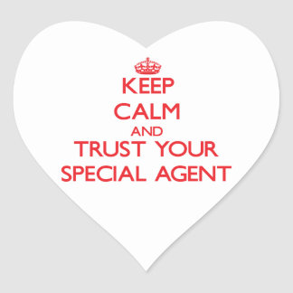 Keep Calm and Trust Your Special Agent Heart Sticker