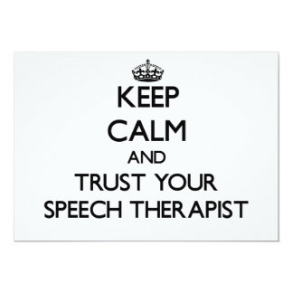 Keep Calm and Trust Your Speech arapist Personalized Announcement