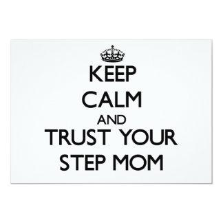 "Keep Calm and Trust  your Step-Mom 5"" X 7"" Invitation Card"