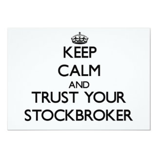 Keep Calm and Trust Your Stockbroker 5x7 Paper Invitation Card