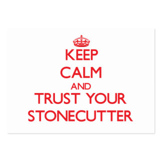 Keep Calm and trust your Stonecutter Business Card Template