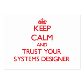 Keep Calm and trust your Systems Designer Business Card Template