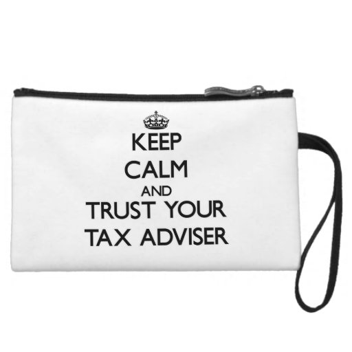 Keep Calm and Trust Your Tax Adviser Wristlet