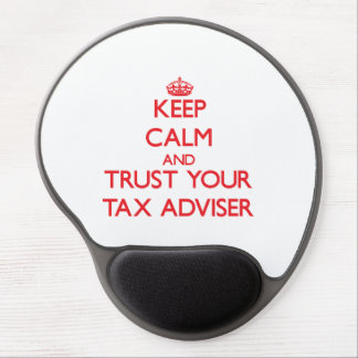 Keep Calm and trust your Tax Adviser Gel Mousepads