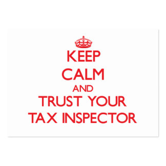 Keep Calm and trust your Tax Inspector Business Cards
