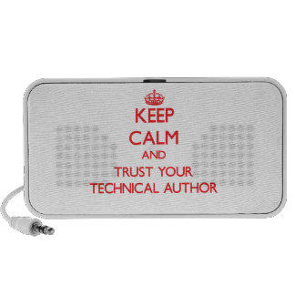 Keep Calm and trust your Technical Author Laptop Speaker