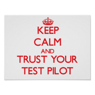 Keep Calm and trust your Test Pilot Poster
