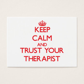 Keep Calm and trust your Therapist Business Card