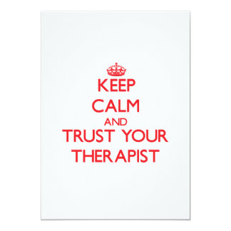Keep Calm and trust your Therapist Personalized Announcements